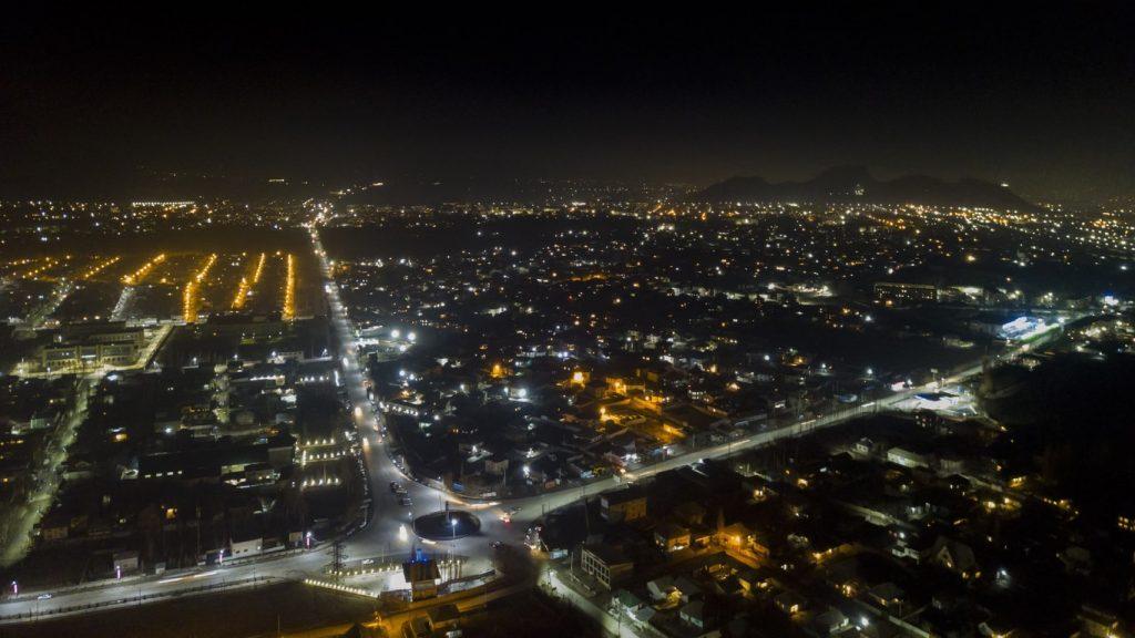Oş şehri gece